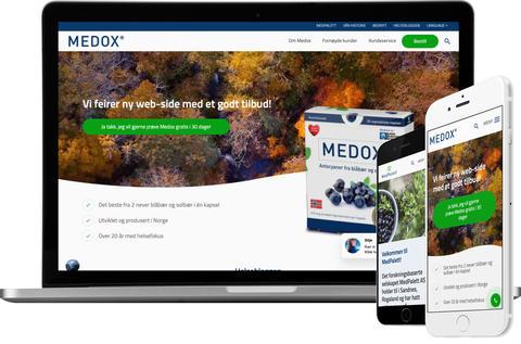 skjermbilder fra medox.no