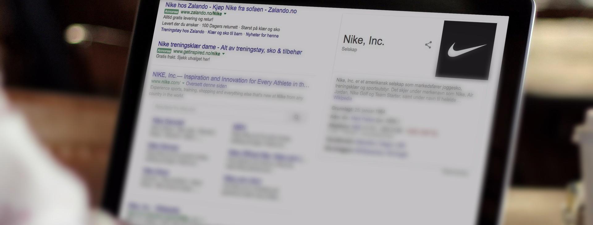 SERP fra Google