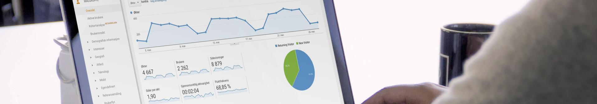 skjermbilde fra Google Analytics