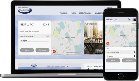 skjermbilde fra www.vestfoldtaxi.no