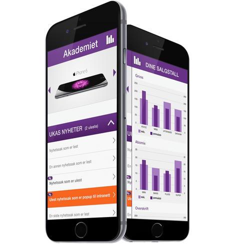 skjermbilder fra telia-app