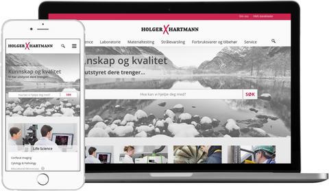 skjermbilde fra www.holgerhartmann.no