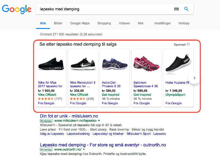 skjermbilde fra google