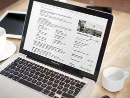 Laptop med skjermbilde fra Google-søk