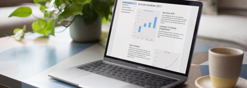 Skjermbilde fra Nordkrafts digitale årsrapport