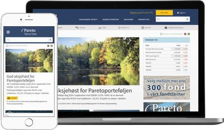 skjermbilde fra www.paretosec.no