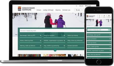 skjermbilde fra www.kongsvinger.kommune.no