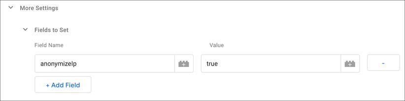 Google Tag Manager AnonimyzeIP