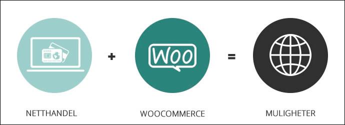 Netthandel pluss WooCommerce gir mange muligheter
