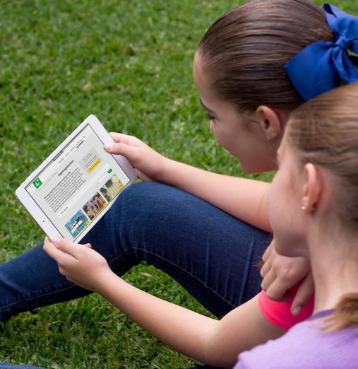2 jenter bruker Oppdragsbanken til 4H