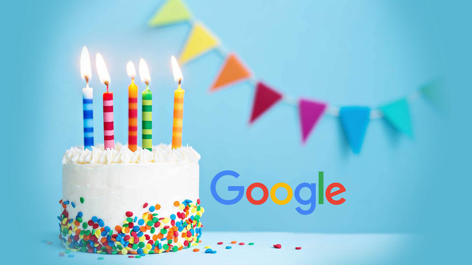 Gratulerer med dagen Google