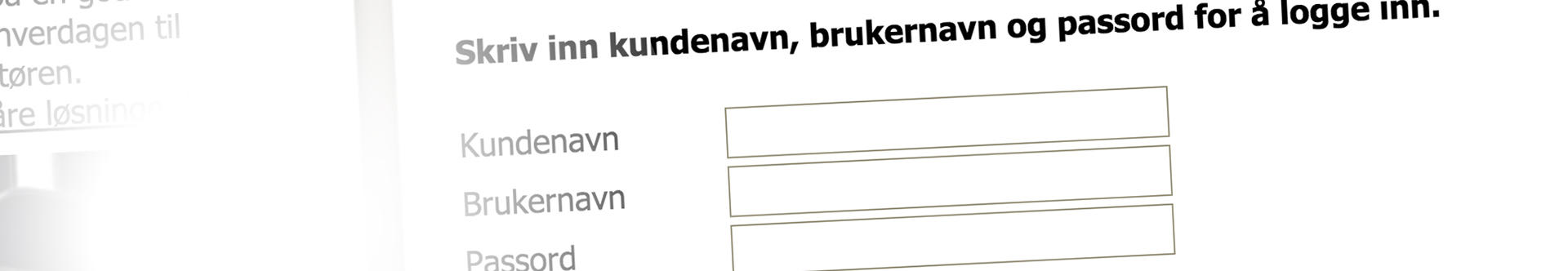 bilde som illustrerer login
