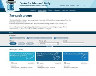 Research groups CAS