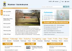 Skjermbilde fra hamar-kommune.no