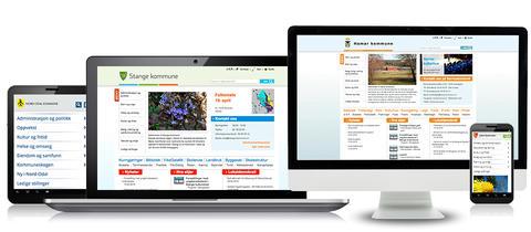 skjermer med websider