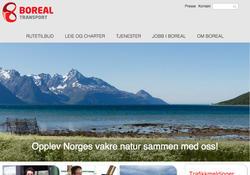 Skjermbilde fra boreal.no