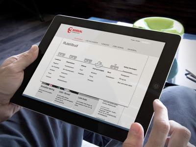 Tablet med skjermbilde fra boreal.no