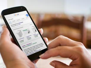 Google søkeresultat på telefon